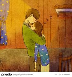 Korean artist embodies the true meaning of love by expressive drawings Real Love, What Is Love, Puuung Love Is, Art Amour, Art Anime, Couple Drawings, Korean Artist, Couple Art, Illustrations