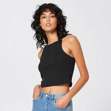 A great cami, made with lightweight materials, that will keep you cool through the warmer months, the Lily Loves ribbed knit cami will be worn over and over. Rib Knit, New Look, Cami, Basic Tank Top, Target, Lily, Australia, Tank Tops, Knitting