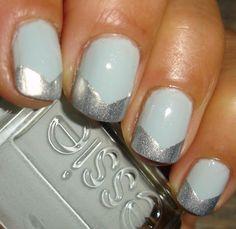 "Essie - ""Loophole"" & ""Who's The Boss"" : manucure chevron - nailartgallery.nailsmag.com"
