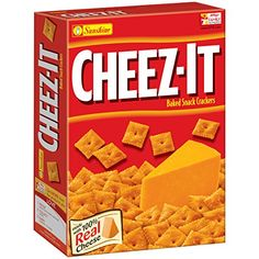 Cheez-It Baked Snack Crackers are original baked snack crackers which are made of wheat, skim milk and soy ingredients. This contains 100% real cheese, salt and palm oil for freshness.