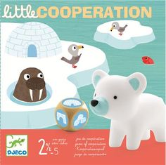 Djeco Little Cooperation and thousands more of the very best toys at Fat Brain Toys. It's the end of the icy season and the arctic animals need to get back to their igloo! Roll the die to move each animal across the bridge and. Artic Animals, Cooperative Games, Little Games, Games For Toddlers, Parenting Toddlers, Educational Toys, Teaching Kids, Arctic, Board Games