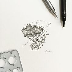 Geometric Beasts | Chameleon