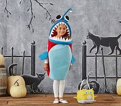 This fun costume adds imagination to their day. Crafted of the softest felt and with an LED just like an angler fish, this one-piece bodysuit completes the whimsical look. Halloween 2018, Halloween Costumes For Kids, Angler Fish Costume, Halloween Clearance, One Piece Bodysuit, Niece And Nephew, Baby Furniture, Pottery Barn Kids, Cool Costumes