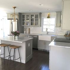 Cabinet Kitchens - CHECK THE PIN for Various Kitchen Cabinet Ideas. 54668378 #kitchencabinets #kitchens