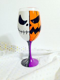 Jack Skellington Two Face Inspired Hand Painted by AWhimsicalHoot, $20.00