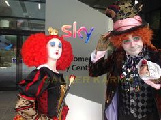 Magical Alice in Wonderland Themed Entertainment; Johnny Depp Mad Hatter, Uk Parties, Alice In Wonderland Party, Mad Hatter Tea, Walkabout, Red Queen, Party Entertainment, Through The Looking Glass, Look Alike
