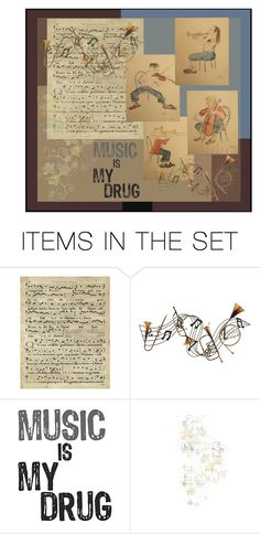 """""""Music is My Drug"""" by pheinart ❤ liked on Polyvore featuring art"""