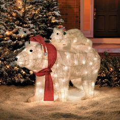 polar bear christmas decorations led christmassite co