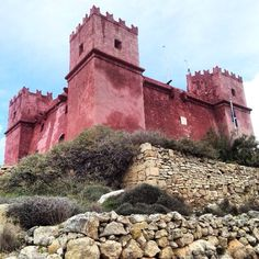 The Red Tower, Mellieha, Malta — by Fen. St Agatha's Tower or commonly known as Red Tower was built in it is now open for public. Malta Mellieha, Malta Food, Malta Malta, Malta Beaches, Sandy Beaches, Malta Valletta, Monuments, Malta Island, Belle Villa