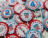 Dr. Seuss/Cat in the Hat Cupcake Toppers - Birthday or Baby Shower