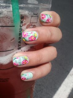 i love the look of something painted over newspaper nails
