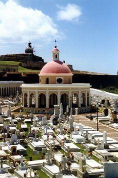 Historic Cemetery by El Morro in San Juan, Puerto Rico.