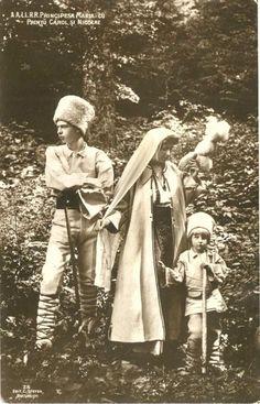 Regina Maria impreuna cu Printii Carol si Nicolae