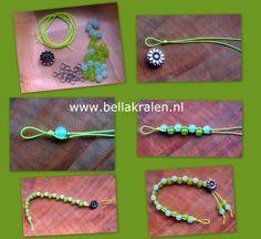 Eenvoudig armbandje maken met kralen, ringetjes en elastiek
