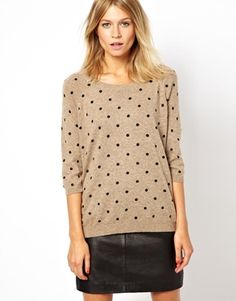 Mango Slouchy Dot Sweater -- ASOS Labor Day Sale CODE: SUMMER4EVER