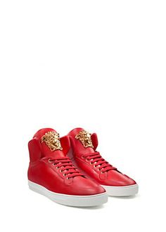Versace - Palazzo lace-up high-tops