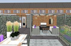 Back Garden Design, Backyard, Patio, Garden Care, Back Gardens, Amazing Gardens, Townhouse, Pergola, Exterior