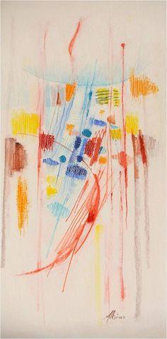 Verso l'alto acrilico su  cartoncino, 20x40, 2015