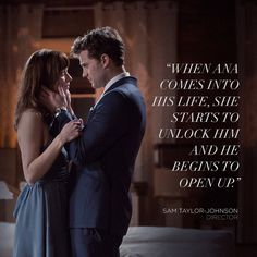 """""""When Ana comes into his life, she starts to unlock him and he begins to open up."""" Director Sam Taylor-Johnson, quote. 