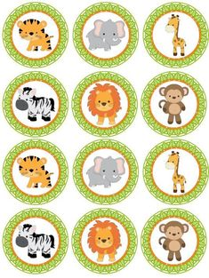 Excited to share the latest addition to my shop: SAFARI Digital cupcake Topper; Jungle Animal Cupcake Toppers for Parties; Safari Cupcakes, Animal Cupcakes, Fondant Cupcakes, Ladybug Cupcakes, Kitty Cupcakes, Snowman Cupcakes, Giant Cupcakes, Spongebob Birthday Party, Jungle Theme Birthday