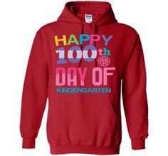 Happy 100th Day of Kindergarten School T-shirt Teacher Tee