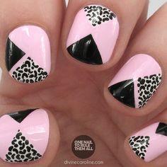 Nail Art: Take a Walk on the Wild Side with Pink Geometric Leopard Spots   Divine Caroline
