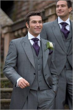 Grey tux with coat tails available at http://www.theweddinghirecompany.co.uk/silver_tails.html