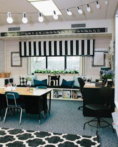 This is one of my favorite views in Katie's classroom. We cleared out the mismatched furniture and created a quaint and functional window… Conference Room, Toys, Meeting Rooms