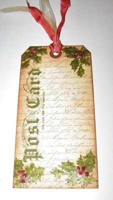 Plays Well With Paper: Gift Tags - Inspired by Tim Holtz