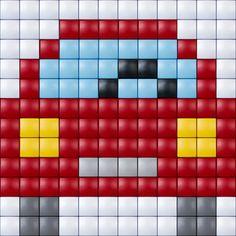 #ideeën #doe-het-zelf #knutselen #pixelhobby #pixelen #hobby #inspiratie #car #auto Pony Bead Patterns, Pearler Bead Patterns, Loom Patterns, Beading Patterns, Quilt Patterns, Pixel Crochet, Crochet Quilt, Crochet Cross, Safety Pin Art