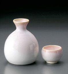 桜流し 徳利 & 盃 2個 セット 陶器 美濃焼