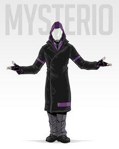 Mysterio Redesign by *AdamLimbert on deviantART Mysterio Spiderman, Mysterio Marvel, Spiderman Art, Superhero Villains, Marvel Villains, Marvel Heroes, Marvel Concept Art, Hero Costumes, Character Design