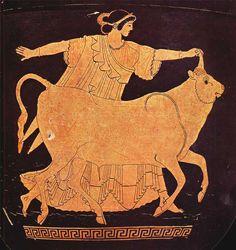 Europa y Zeus, Pintor de Berlín, 500 a.n.e.