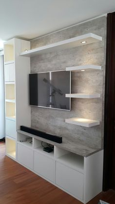 16 incredible DIY rustic home decor ideas – Tables and desk ideas Living Room Wall Units, Living Room Tv Unit Designs, Ceiling Design Living Room, Home Room Design, Living Room Decor, Modern Tv Unit Designs, Tv Unit Interior Design, Tv Unit Furniture Design, Bedroom Furniture Design