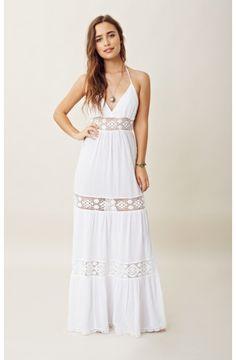 Michelle jonas maxi dress white