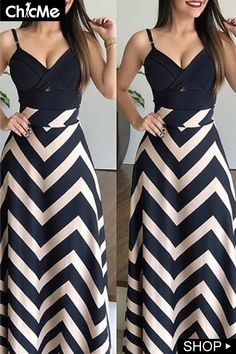 Chevron Striped High Waist Casual Skirt - Fashion Able Dresses For Teens, Trendy Dresses, Nice Dresses, Casual Dresses, Fashion Dresses, Summer Dresses, Work Dresses, Casual Clothes, Summer Clothes