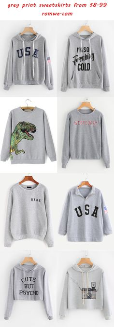grey print sweatshirts 2017 - romwe.com https://tmblr.co/ZmD_Wd2QMvUbG