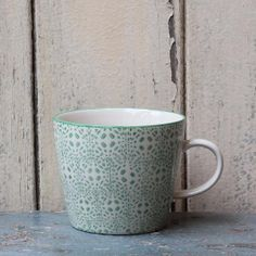 Bloomingville Hand Printed Coffee Mug: Hand printed ceramic coffee mug, available in 8 different prints.