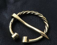 Brass Fibula. Viking Brooch.