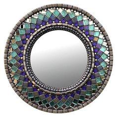 Beaded Mirror, Mirror Mosaic, Mosaic Art, Mosaic Glass, Glass Art, Mirror Bathroom, Mosaics, Sea Glass, Stained Glass Birds