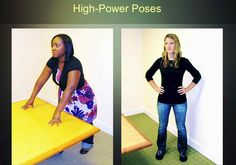 Amy Cuddy's TED Talk about power posing is pretty great. This site has still images of some of the poses to do for two minutes before high stress situations.