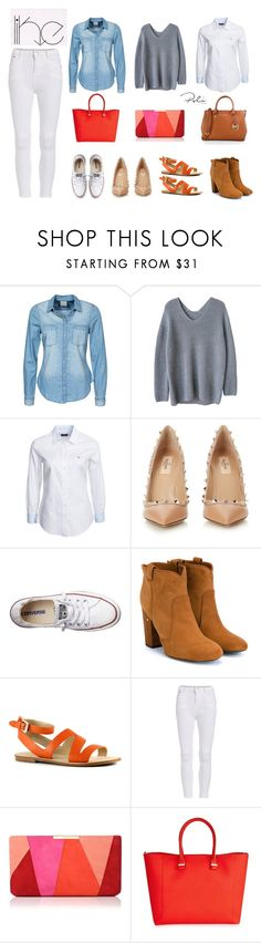 """""""white like"""" by poli-maniaca ❤ liked on Polyvore featuring Vero Moda, GANT, Valentino, Converse, Laurence Dacade, Marc Fisher, L.K.Bennett, Victoria Beckham, MICHAEL Michael Kors and Color"""