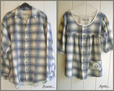 50 Ideas Sewing Clothes Men Shirt Refashion For 2019 Old Clothes, Sewing Clothes, Stylish Clothes, Diy Kleidung, Diy Vetement, Diy Couture, Altered Couture, Diy Clothing, Clothes Refashion