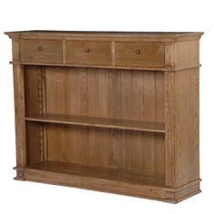 CH Furniture Antiqued Oak Open Bookcase £754.00