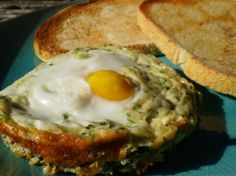 Baked Spinach and Eggs... maybe a breakfast for dinner night?
