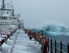 A Lake Superior Storm on Easter, April 8, 2007, on the Great Lakes Steamer Herbert C. Jackson.  Photo by Donald F. Donovan