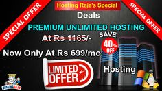 Premium Hosting Starting At Rs 699/- only At Hosting Raja. For more details please visit us @ https://www.hostingraja.in or call us @ 1800-258-8000