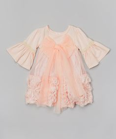 Look what I found on #zulily! Pink Bow Rosette Dress - Infant, Toddler & Girls by Blossom Couture #zulilyfinds