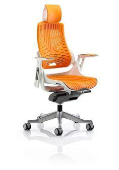 Dynamic Office Seating Zephyr executive chair in orange elastomer
