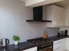 Keuken achterwand beal mortex. Lichtgrijs - ©Stuc Ydee